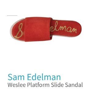 Sam Edelman Red Weslee Slide Sandal 7.5